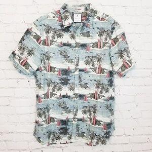 Denim & Flower|Beach Theme Button Down Shirt